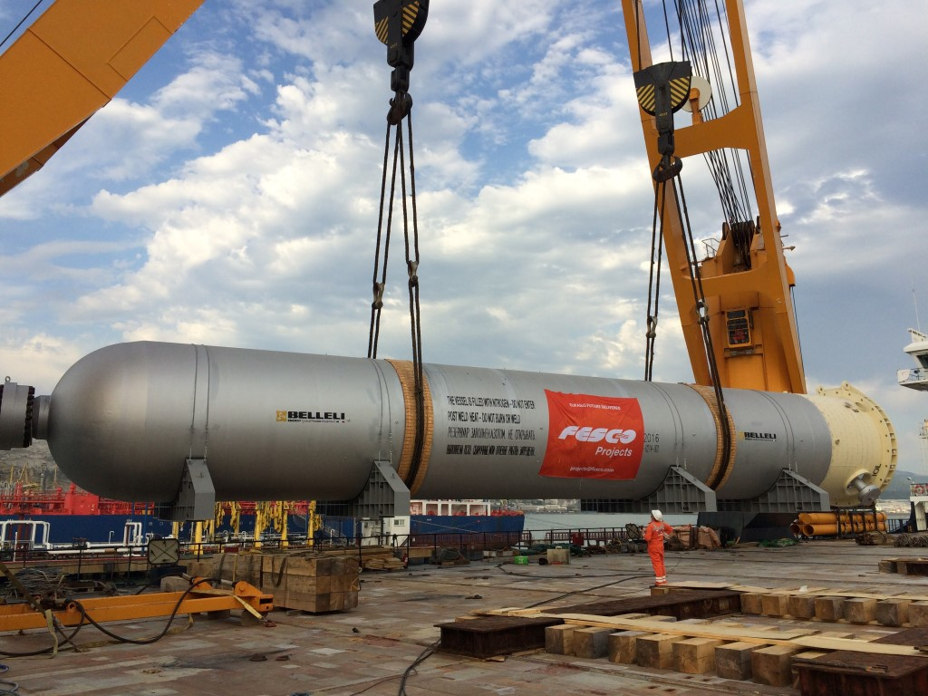 FESCO Delivers Oversized Equipment (appx. 4 thousand tons) to Afipsky Oil Refinery