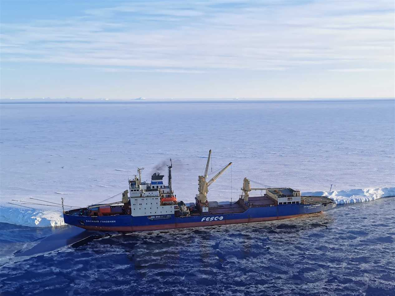 FESCO vessel finished the Antarctic expedition 2020 delivering cargo to research stations