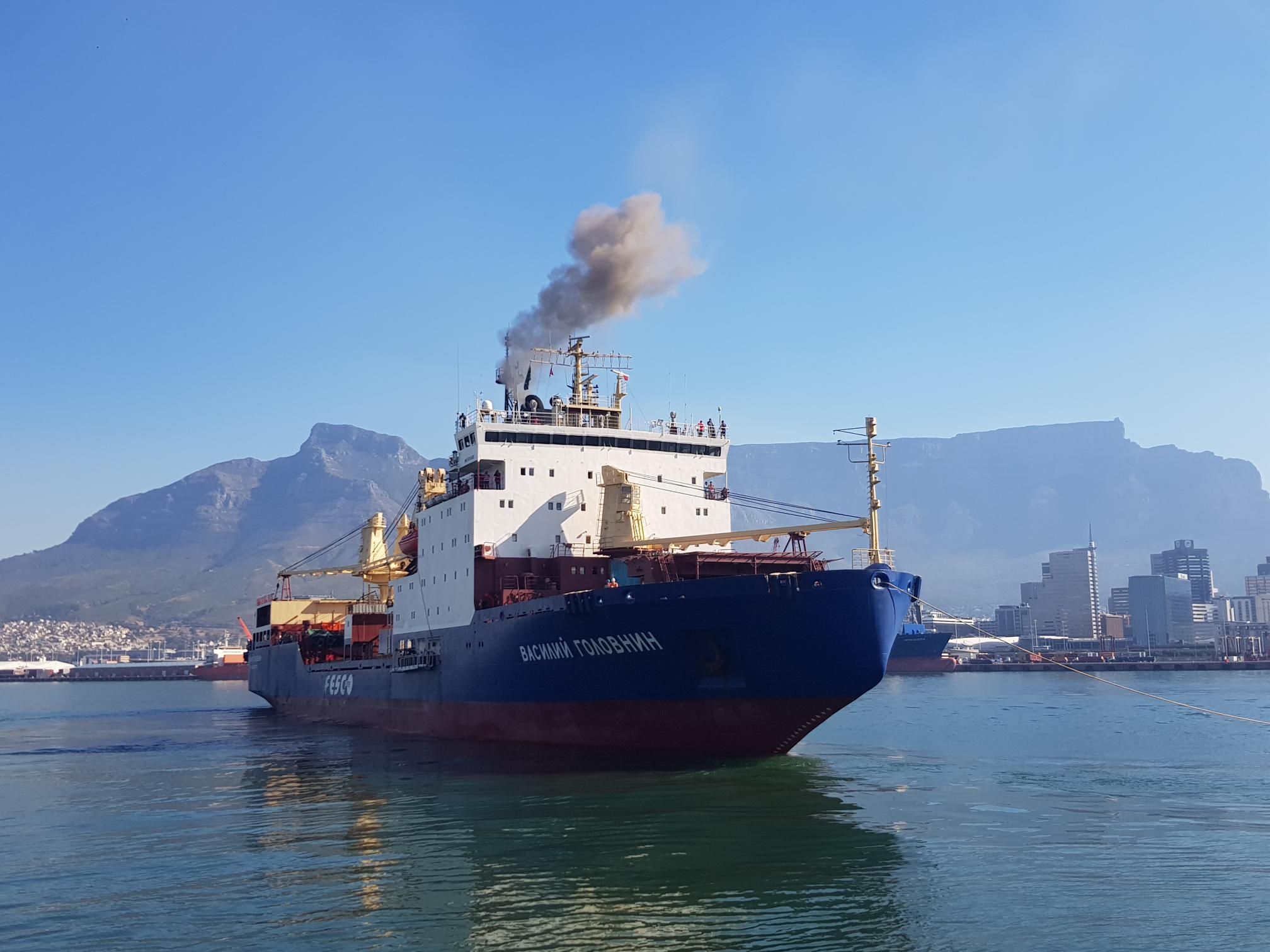 FESCO vessel departed to Antarctica to deliver supplies to research stations in India and Belgium